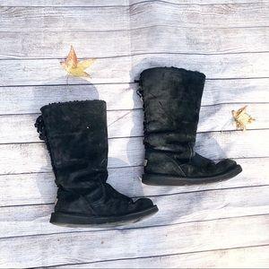 UGG Roseberry Black Corset Boots